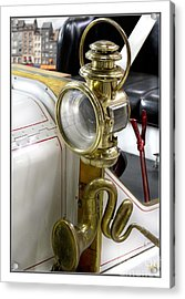Oldtimer Front Light Acrylic Print by Heiko Koehrer-Wagner