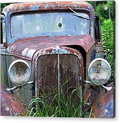 Ole Chevy Acrylic Print by Leon Hollins III
