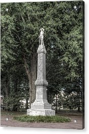 Ole Miss Confederate Statue Acrylic Print by Joshua House