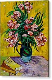 Oleanders Acrylic Print by Karon Melillo DeVega