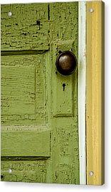 Olive Door Acrylic Print