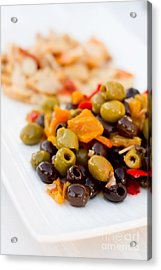 Olive Plate Acrylic Print
