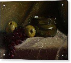 Olive Pottery Acrylic Print