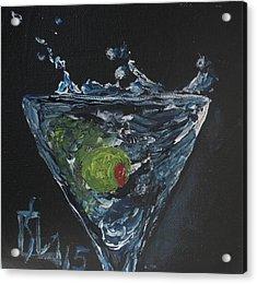 Olive Splash Acrylic Print