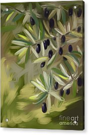 Acrylic Print featuring the painting Olive Tree by Go Van Kampen