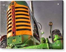 Oliver Tractor Acrylic Print by Michael Eingle