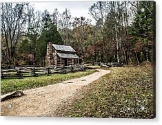 Acrylic Print featuring the photograph Oliver's Log Cabin by Debbie Green