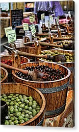 Olives Acrylic Print by Heather Applegate