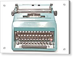 Olivetti Typewriter 1 Acrylic Print by Pittsburgh Photo Company
