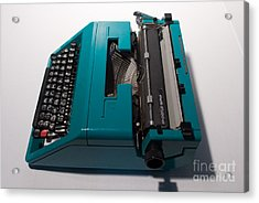 Olivetti Typewriter 10 Acrylic Print by Pittsburgh Photo Company
