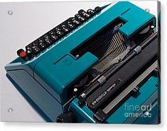 Olivetti Typewriter 11 Acrylic Print by Pittsburgh Photo Company