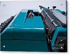 Olivetti Typewriter 12 Acrylic Print by Pittsburgh Photo Company