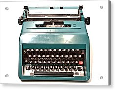 Olivetti Typewriter 13 Acrylic Print by Pittsburgh Photo Company