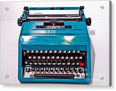 Olivetti Typewriter 2 Acrylic Print by Pittsburgh Photo Company