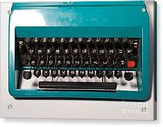 Olivetti Typewriter 4 Acrylic Print by Pittsburgh Photo Company