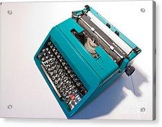 Olivetti Typewriter 7 Acrylic Print by Pittsburgh Photo Company