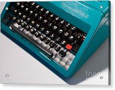 Olivetti Typewriter Soft Focus Acrylic Print by Pittsburgh Photo Company