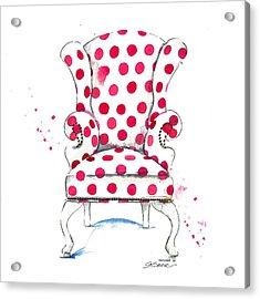 Olivia Chair Acrylic Print