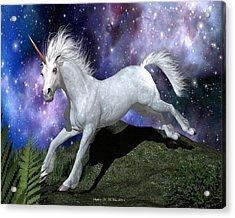 Olivia's Unicorn Acrylic Print by Stephen McKim