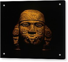 Olmeca Head Acrylic Print