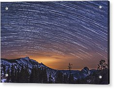 Olmstead Point Star Trails Acrylic Print by Cat Connor