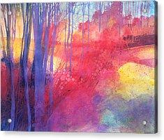 Oltre Il Sentiero Dei Faggi D'autunno Acrylic Print by Alessandro Andreuccetti