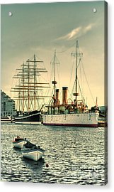 Olympia And Moshulu Acrylic Print by Olivier Le Queinec