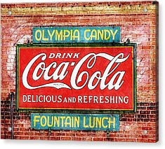 Acrylic Print featuring the painting Olympia Candy by Sandy MacGowan