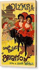 Olympia Grand Ballet Brighton Acrylic Print by Gianfranco Weiss