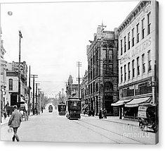 Olympia Main Street 1917 Acrylic Print