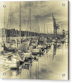 Acrylic Print featuring the photograph Olympia Marina 3 by Jean OKeeffe Macro Abundance Art