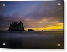 Olympic Coast Sunset Acrylic Print by Larry Marshall