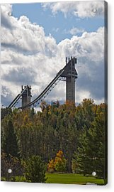 Olympic Ski Jumps Lake Placid Acrylic Print