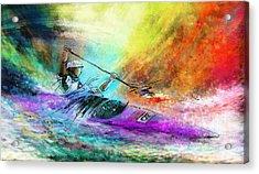 Olympics Canoe Slalom 03 Acrylic Print by Miki De Goodaboom