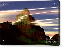 Acrylic Print featuring the painting Olympus by Pet Serrano