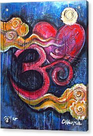 Om Heart Of Kindness Acrylic Print