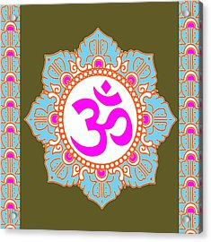 Acrylic Print featuring the photograph Om Mantra Ommantra 3 by Navin Joshi