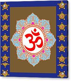 Acrylic Print featuring the photograph Om Mantra Ommantra Chant Yoga Meditation Tool by Navin Joshi