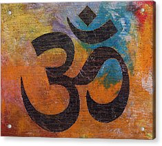 Om Acrylic Print by Michael Creese