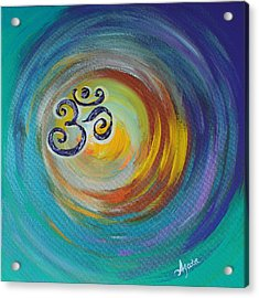 Acrylic Print featuring the painting Om Vortex by Agata Lindquist