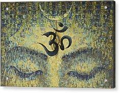 OM Acrylic Print by Vrindavan Das