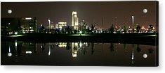 Omaha Skyline Reflection Acrylic Print