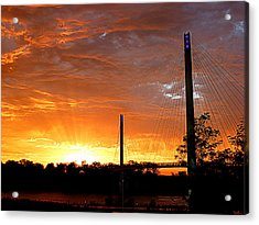 Acrylic Print featuring the photograph Omaha Sunrise by Jeff Lowe