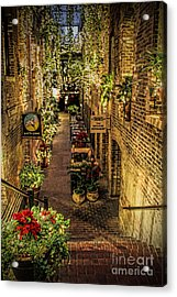 Omaha's Old Market Passageway Acrylic Print by Elizabeth Winter