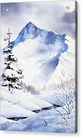 Acrylic Print featuring the painting O'malley Peak by Teresa Ascone