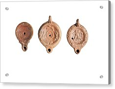 Oman Era Terracotta Oil Lamps Acrylic Print by Science Photo Library