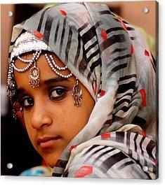 Omani Girl Acrylic Print