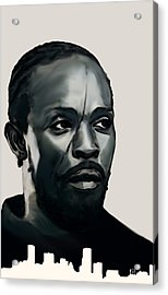 Omar Little Acrylic Print by Jeff DOttavio