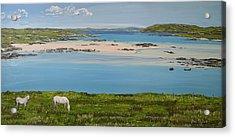 Omey Strand To Omey Island Cladaghduff Connemara Ireland Acrylic Print