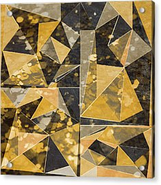 Omg Modern Triangles II Acrylic Print by south Social Studio